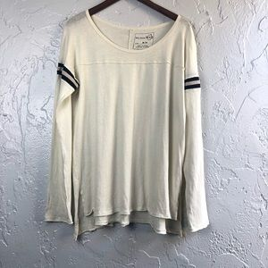 Free People We the Free Striped Sleeve Top M NWT